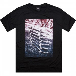 HUF Stacked Boards Tee (black)