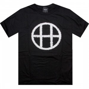 HUF Stitch Circle H Tee (black)