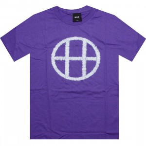 HUF Stitch Circle H Tee (purple)