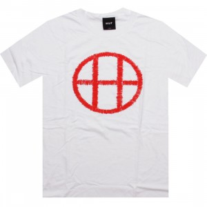 HUF Stitch Circle H Tee (white)