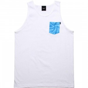 HUF Tie-Dye Pocket Tank Top (white)