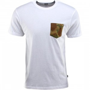 HUF Japanese Camo Pocket Tee (white)
