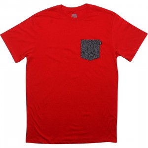 HUF Quake Pocket Tee (red)