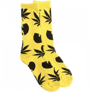 HUF x Wu-Tang Plantlife Crew Socks (yellow) 1S