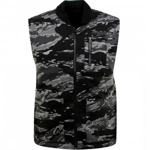 HUF Tiger Camo Reversible Vest Jacket (black / camo / rev)