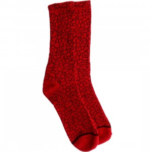 HUF Quake Crew Socks (red) 1S