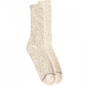 HUF Quake Crew Socks (white) 1S