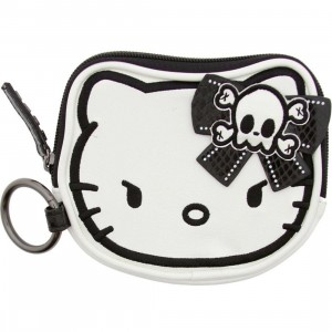 Hello Kitty Angry Skull Coin Bag (white / black)