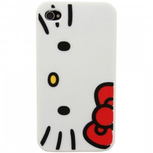 Hello Kitty Face iPhone 4 Case (white)