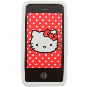Hello Kitty Nerd iPhone 4 Case (white)