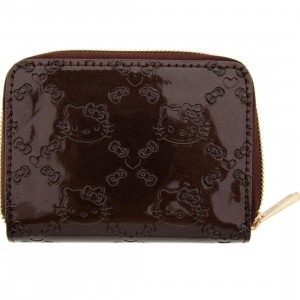 Hello Kitty Small Embossed Wallet (brown)