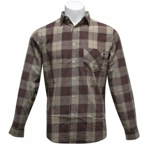 HUF Lumber Woven Shirt (brown / tan)