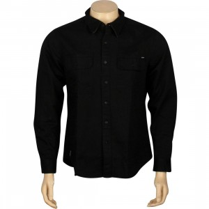 HUF Potrero Long Sleeve Shirt (black)