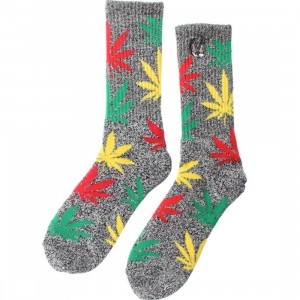 HUF x Snoop Dogg Plantlife Crew Socks (black heather) 1S