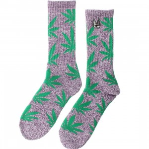 HUF x Snoop Dogg Plantlife Crew Socks (purple / heather) 1S