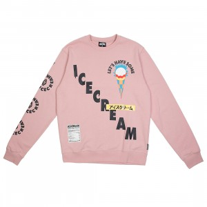 Ice Cream Men Lets Get Some Crew Sweater (pink / mauve)