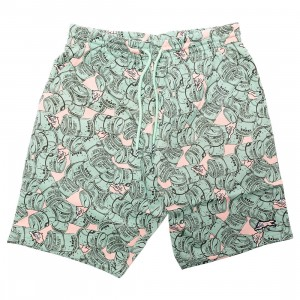 Ice Cream Men Rolls Shorts (green / smoke / rose)