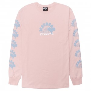 Ice Cream Men Oops Long Sleeve Knit Long Sleeve Tee (pink / rose smoke)