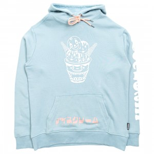 Ice Cream Men Bow Tie Hoody (blue)