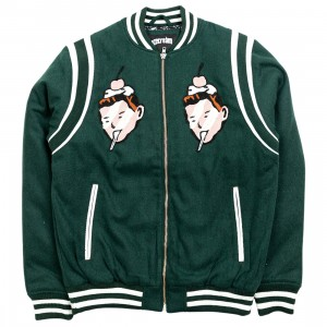 Ice Cream Men Faces Jacket (green)