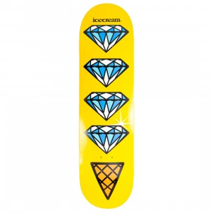 Ice Cream Quad Skateboard Deck (yellow)