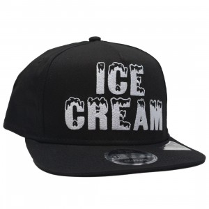 Ice Cream Black Bacon Snapback Cap (black)