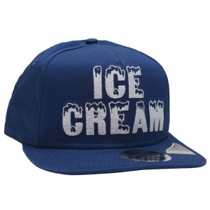 Ice Cream Black Bacon Snapback Cap (blue)