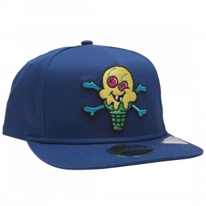 Ice Cream Black Walnut Snapback Cap (blue / royal)