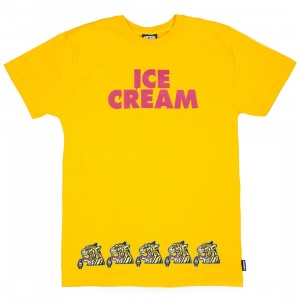 Ice Cream Men Cream Tee (yellow)