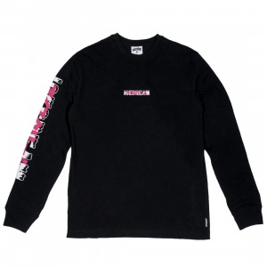 Ice Cream Men Transition Long Sleeve Tee (black)