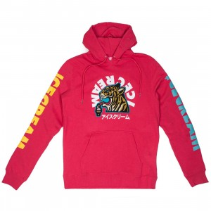 Ice Cream Men RGB Hoody (red / raspberry wine)