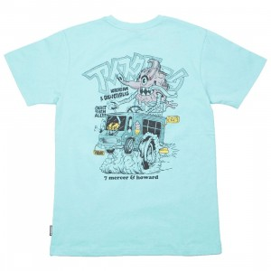 Ice Cream Men Creamsickle Tee (blue / aruba)