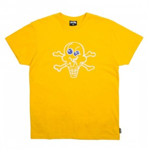 Ice Cream Men Cone And Bones Tee (yellow)