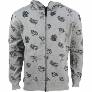Billionaire Boys Club Men Full Coverage Hoodie (gray / heather)