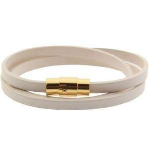 Mister Mr Trifecta Bracelet (white / gold)
