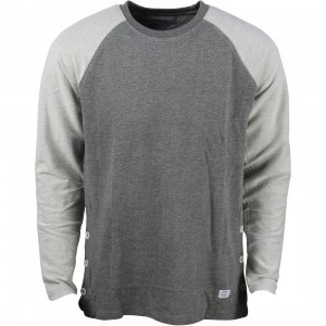 Akomplice Men Button Rag Crew Tee (gray)