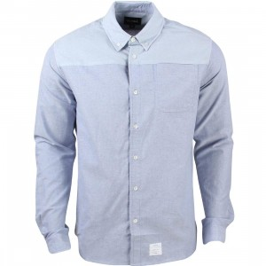 Diamond Supply Co Men Blocked Oxford Shirt (blue / light blue / navy)
