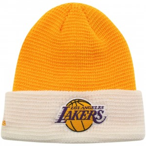 Adidas NBA Los Angeles Lakers Team Cuffed Knit Beanie (gold / white)