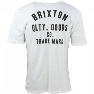 Brixton Men Woodburn Henley Tee (white / off white)