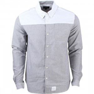 Diamond Supply Co Men Blocked Oxford Shirt (white / grey)
