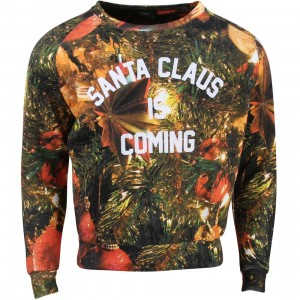 Eleven Paris Women Holiday Santa Claus Is Coming Sweater (red / print)