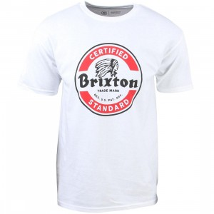 Brixton Men Soto Tee (white / red)