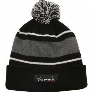 Diamond Supply Co OG Script Pom Pom Beanie (black)