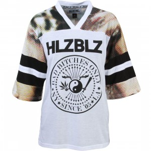 HLZBLZ Women Varsity Bitch Jersey (white)
