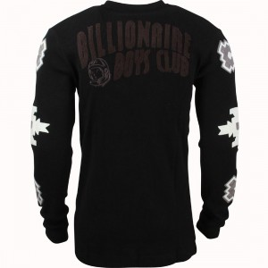 Billionaire Boys Club Men BB Artic Long Sleeve Knit Tee (black)