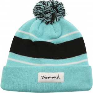 Diamond Supply Co OG Script Pom Pom Beanie (blue / diamond blue)