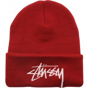 Stussy Stock Cuff Beanie - Holiday 2015 (red)