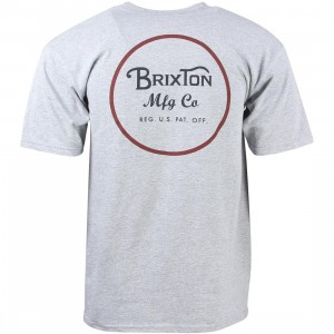 Brixton Men Wheeler Tee (gray / heather)