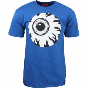 Mishka Men Monochrome Keep Watch Tee (blue / royal blue)