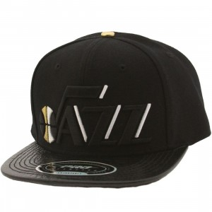 Pro Standard NBA Utah Jazz Wordmark Logo Adjustable Cap (black)